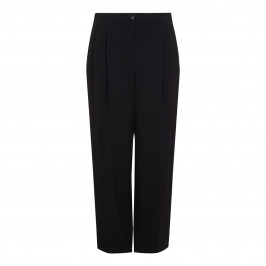 Marina Rinaldi black wide leg pleat TROUSERS - Plus Size Collection
