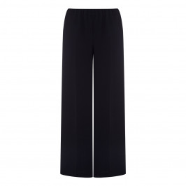 MARINA RINALDI BLACK TRIACETATE PALAZZO TROUSERS - Plus Size Collection