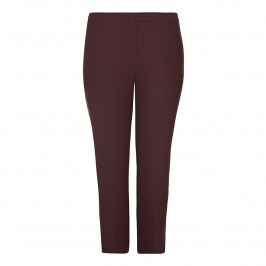 Marina Rinaldi Bordeaux Suiting Trousers - Plus Size Collection