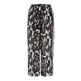 MARINA RINALDI PRINTED, PURE SILK PALAZZO TROUSER - Plus Size Collection