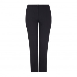 MARINA RINALDI BLACK NARROW LEG WOOL TROUSER - Plus Size Collection