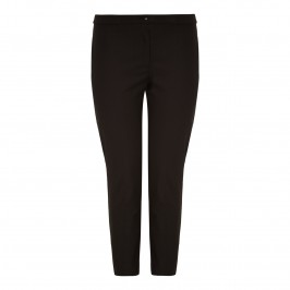 Marina Rinaldi cotton stretch black TROUSERS - Plus Size Collection