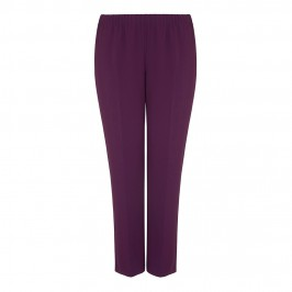 MARINA RINALDI plum tailored TROUSERS - Plus Size Collection