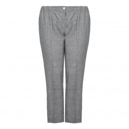 Marina Rinaldi straight leg pure linen TROUSERS - Plus Size Collection
