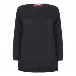MARINA RINALDI BLACK KNITTED TUNIC - Plus Size Collection