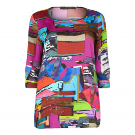 Marina Rinaldi Printed Multi-Coloured Tunic  - Plus Size Collection