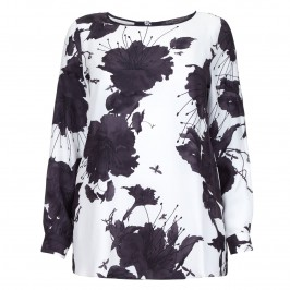 MARINA RINALDI black and white silk TUNIC - Plus Size Collection