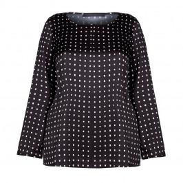 MARINA RiNALDI BLACK CHECK PRINT TUNIC WITH SPLIT SIDES  - Plus Size Collection