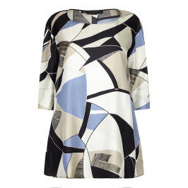MARINA RINALDI PURE SILK ART DECO TUNIC - Plus Size Collection