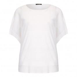 MARINA RINALDI semi-sheer knitted white TUNIC - Plus Size Collection