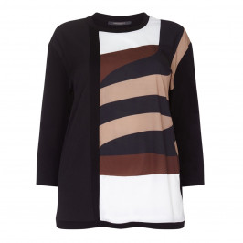 Marina Rinaldi vertical stripe Tunic top - Plus Size Collection