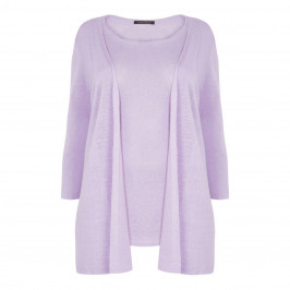 MARINA RINALDI SWEATER AND CARDI TWINSET LILAC - Plus Size Collection