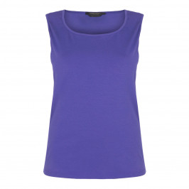 MARINA RINALDI SLEEVELESS COTTON JERSEY VEST - Plus Size Collection