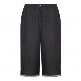 Marina Rinaldi black linen CULOTTES - Plus Size Collection
