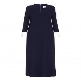 Marina Rinaldi white edge a-line DRESS - Plus Size Collection