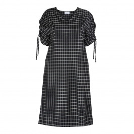 MARINA RINALDI VIRGIN WOOL BLACK CHECK DRESS - Plus Size Collection