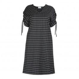 MARINA RINALDI VIRGIN WOOL BLACK CHECK DRESS - Plus Size Collection