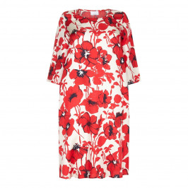 Marina Rinaldi floral print silk twill DRESS