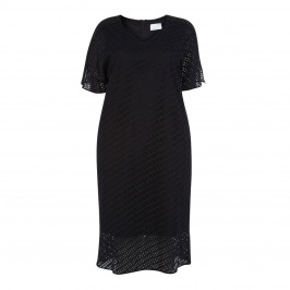 MARINA RINALDI SANGALO LACE DRESS BLACK - Plus Size Collection