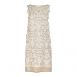 MARINA RINALDI LINEN EMBROIDERED DRESS - Plus Size Collection