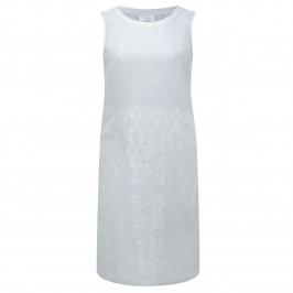 Marina Rinaldi white embroidered linen DRESS (with optional sleeves) - Plus Size Collection