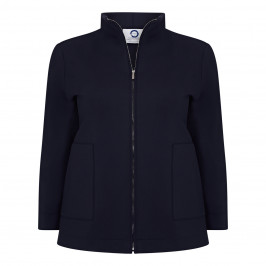 MARINA RINALDI SCUBA FABRIC BLAZER NAVY - Plus Size Collection
