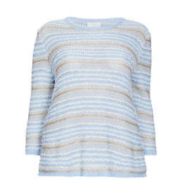 MARINA RINALDI KNITTED TUNIC PALE BLUE - Plus Size Collection