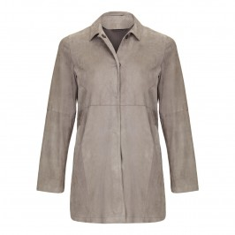 MARINA RINALDI long suede JACKET - Plus Size Collection