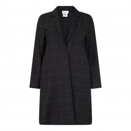 MARINA RINALDI FLUID CHECK VIRGIN WOOL DUSTER COAT - Plus Size Collection