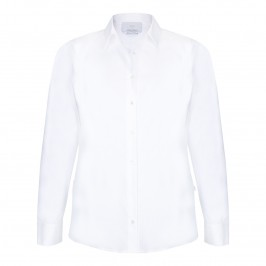MARINA RINALDI white textured SHIRT - Plus Size Collection
