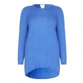 Marina Rinaldi blue wool a-line SWEATER - Plus Size Collection