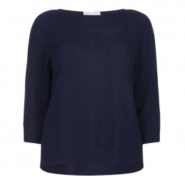 MARINA RINALDI PURE COTTON SWEATER WITH RAGLAN SLEEVES  - Plus Size Collection