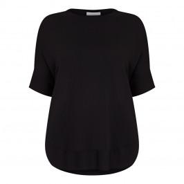 MARINA RINALDI VISCOSE TOP KIMONO SLEEVE BLACK - Plus Size Collection