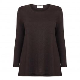 MARINA RINALDI LUREX TOP BLACK - Plus Size Collection