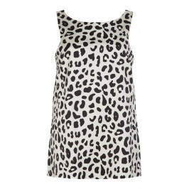 MARINA RINALDI ANIMAL PRINT TOP WITH OPTIONAL SLEEVES - Plus Size Collection