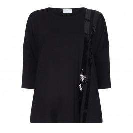Marina Rinaldi black sequin embellished top - Plus Size Collection