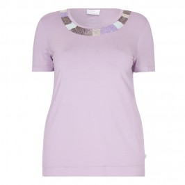 MARINA RINALDI embellished lilac TOP - Plus Size Collection