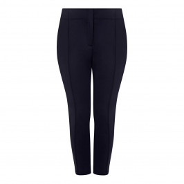 MARINA RINALDI SCUBA FABRIC TROUSER NAVY - Plus Size Collection