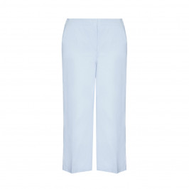 MARINA RINALDI SKY BLUE CROPPED TROUSERS  - Plus Size Collection