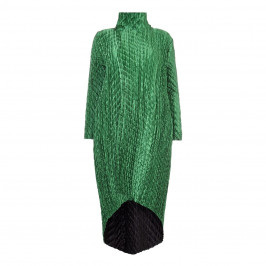 MASHIAH emerald pleated reversible cocktail COAT - Plus Size Collection
