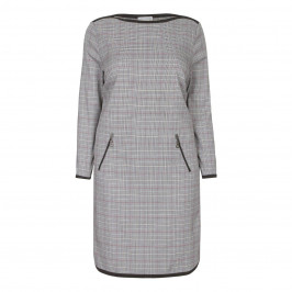 MAXIMA PRINCE OF WALES CHECK  DRESS - Plus Size Collection