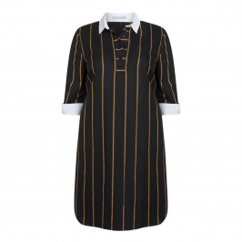 MAXIMA PINSTRIPE SHIRT DRESS - Plus Size Collection