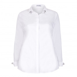 MAXIMA CLASSIC WHITE SHIRT WITH EMBELLISHMENTS - Plus Size Collection