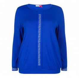 MAXIMA LONG SLEEVE JERSEY TOP BLUETTE - Plus Size Collection