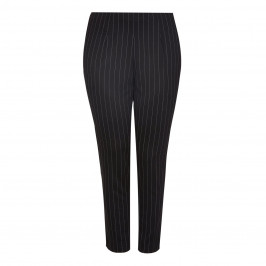 MAXIMA PULL ON PINSTRIPE TROUSERS - Plus Size Collection