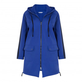MAXIMA COBALT HOODED PARKA - Plus Size Collection