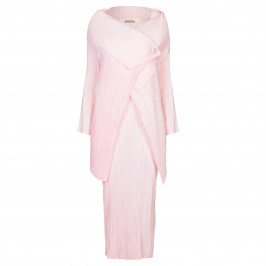 MASHIAH PALE PINK PLEATED DRESS + JACKET  - Plus Size Collection