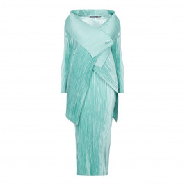 MASHIAH MINT GREEN PLEATED DRESS + JACKET  - Plus Size Collection