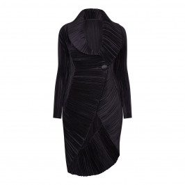 MASHIAH BLACK STRUCTURED COAT - Plus Size Collection