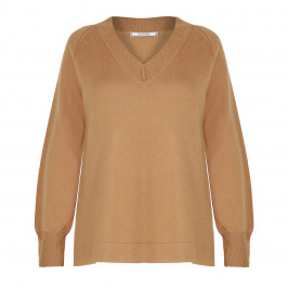 ELENA MIRO WOOL AND CASHMERE BLEND SWEATER CAMEL - Plus Size Collection